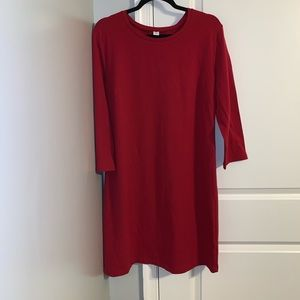Fitted Crew Neck Jersey T-shirt Dress